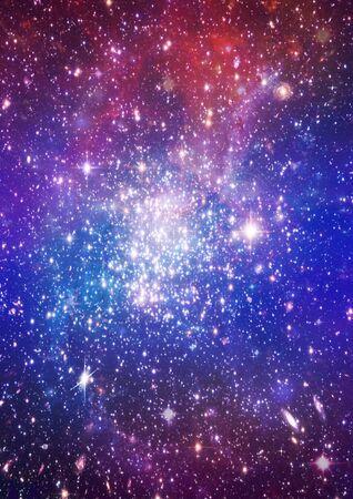 ?toiles d'une plan?te et galaxie dans un espace libre Banque d'images