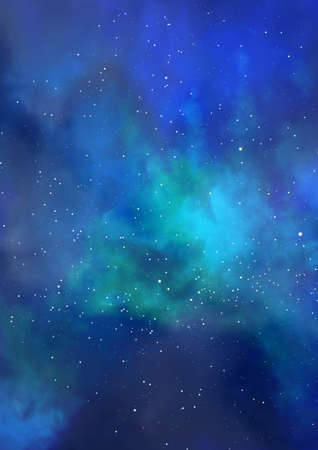 Star field in space and a nebulae Stock Photo - 17210518