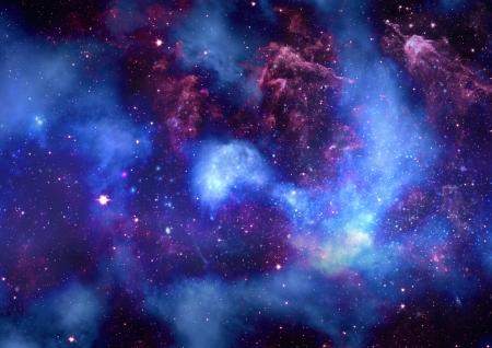 Gisement d'�toile dans l'espace et un n�buleuses Banque d'images