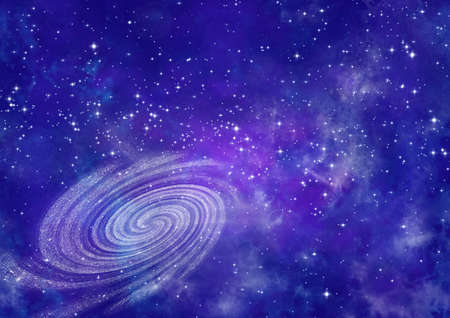 Far away spiral galaxy Stock Photo - 17259557