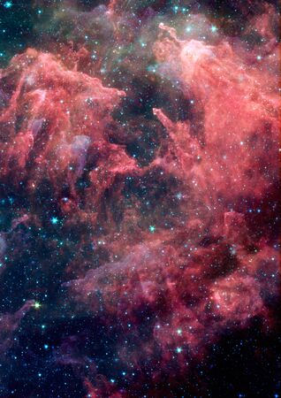 Far being shone nebula and star field against space Stock Photo - 17448337