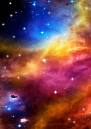 astral: Far space being shone nebula as abstract background