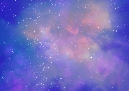 astral: Star field in space and a nebulae Stock Photo