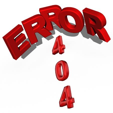 Three-dimensional inscription error 404 Stock Photo - 18494718