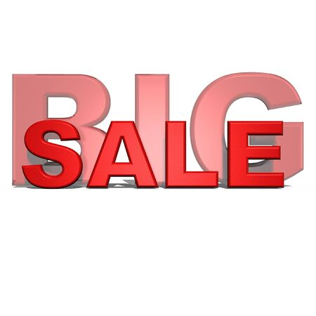 three-dimensional inscription big sale Stock Photo - 18494772
