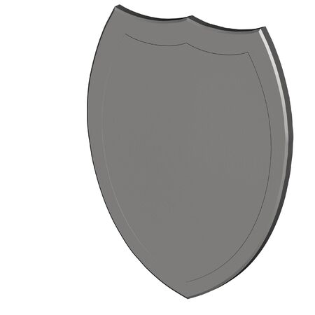 sheild: Classical sheild isolated on the white