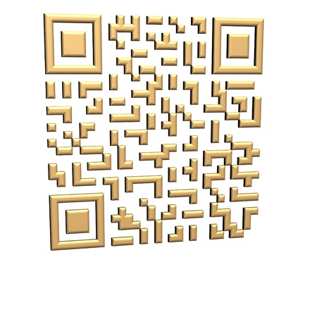 Abstract example of a three-dimensional QR code as a background photo