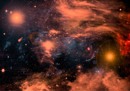 Star field in space, a nebulae and a gas congestion photo