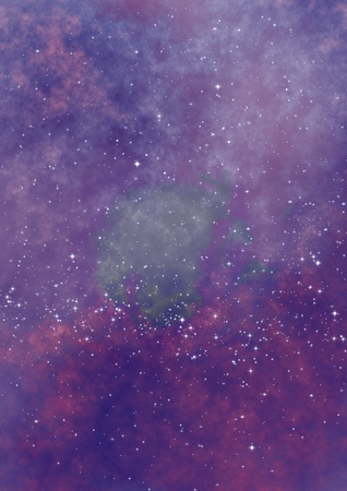 Star field in space, a nebulae and a gas congestion Stock Photo - 20985005