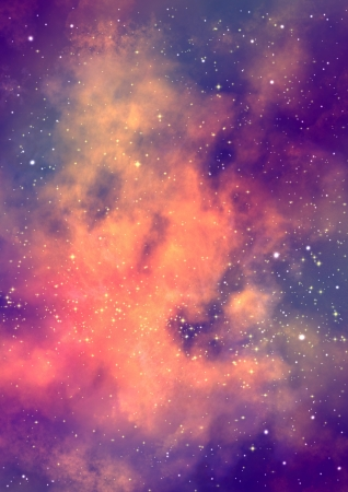 Small part of an infinite star field of space in the Universe  Stock Photo