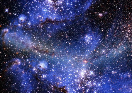 Far being shone nebula and star field against space Stock Photo - 22661485