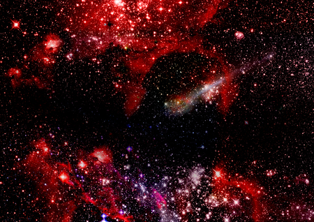 Far being shone nebula and star field against space Stock Photo - 22661750