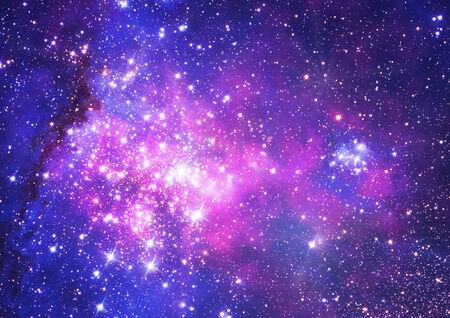 우주 공간의 무한한 스타 필드의 작은 부분.