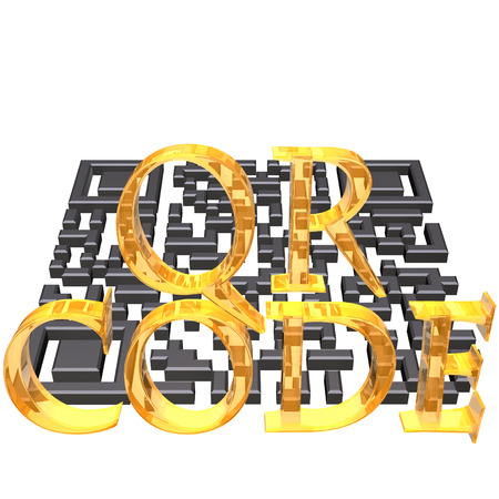 bbm: Abstract example of a three-dimensional QR code