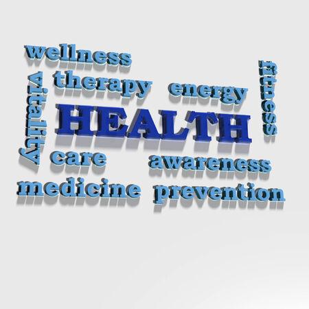 human health: Algunas palabras de oro asociar con la salud humana Foto de archivo