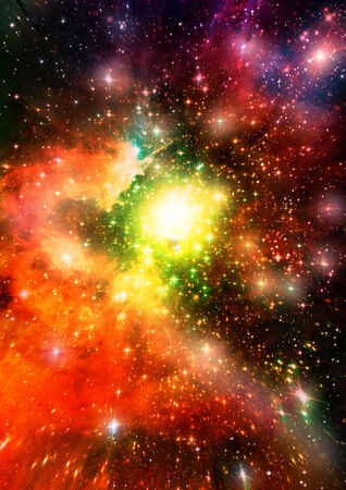 Star field in space a nebulae and a gas congestion   Elements of this image furnished by NASA Stock fotó - 30114034