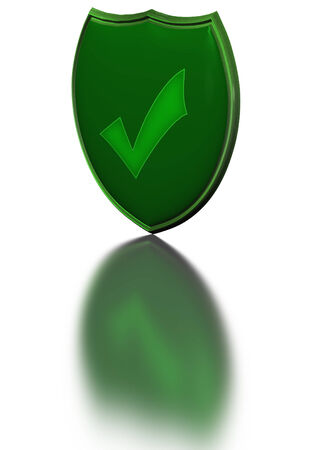 sheild: Image of a sheild, as concept of information security and protection of communications Stock Photo
