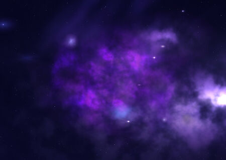 Star field in space a nebulae and a gas congestion.   Banque d'images