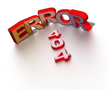 404 error symbol. 3d render illustration illustration