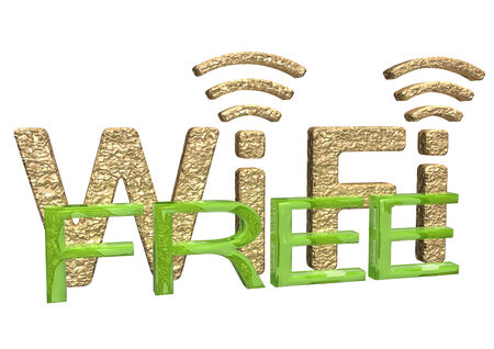 wireless communication: Sign of a free zone of a wireless communication