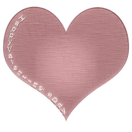 Happy Valentines Day text cut from heart. Celebration card sample. photo
