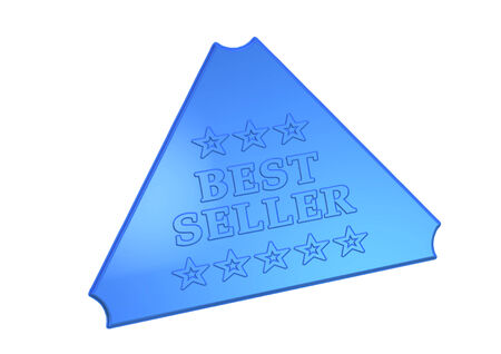 High Quality Best seller product badge isolated on white. Stock Photo