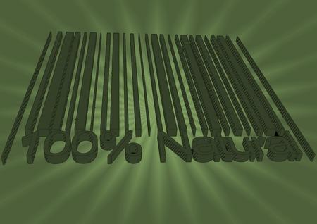 codigos de barra: 100 por ciento de los c�digos de barras Naturales drow como backgraund Foto de archivo