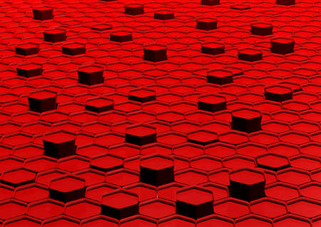 background part: Abstract honeycomb background 3d illustration or backdrop.