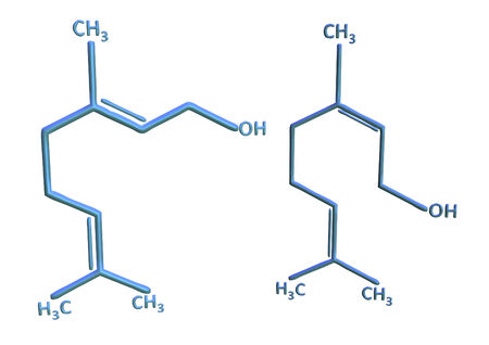 benzene: Abstract background with structural chemical formulas of benzene rings Stock Photo