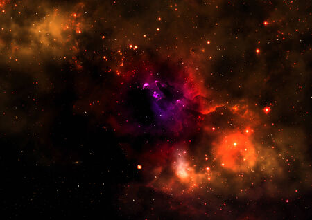 awe: Star field in space a nebulae and a gas congestion. Elements of this image furnished by NASA.