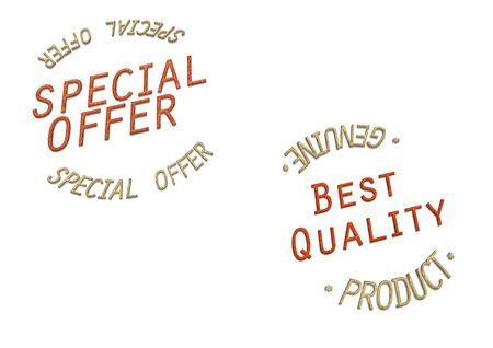 Rouge brillant inscription tridimensionnelle Offre sp�ciale et la meilleure qualit� Banque d'images