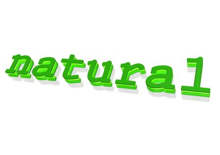 Three-dimensional inscription of natural. Concept of natural products.