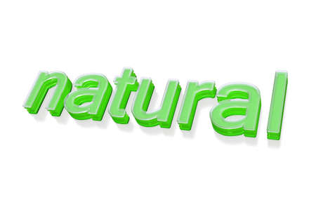 environmentalist: Three-dimensional inscription of natural. Concept of natural products.