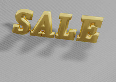sellout: Glossy three-dimensional inscription Sale as a sign.