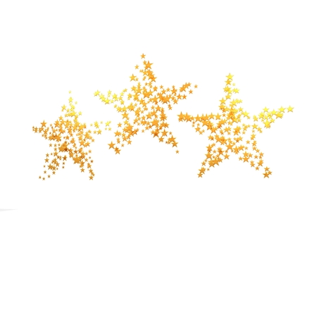 pursuit: Three big stars consisting of a set of small stars. Stock Photo