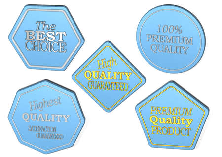 spiked: High Quality set of Sale product badges isolated on white.