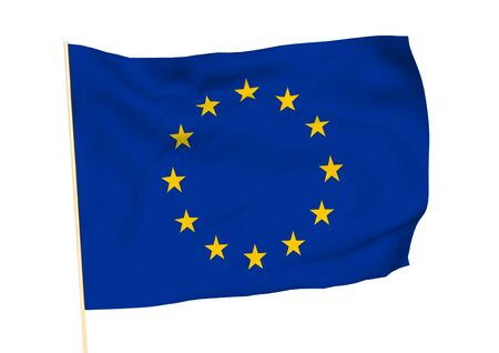 socialist: Image of a waving flag of Europe Stock Photo