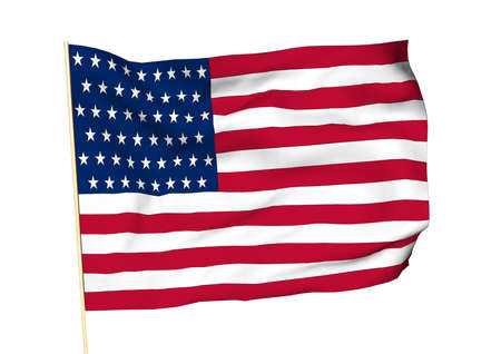 Image of a waving flag of USA photo