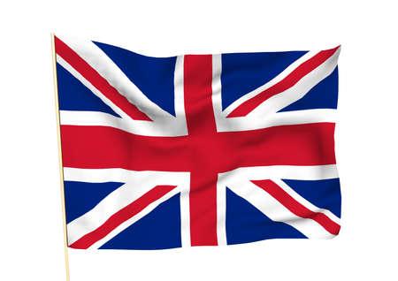 Image of a waving flag of UK photo