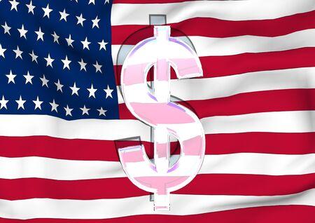 socialist: Image of a waving flag of USA