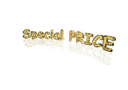 special price: Word special price made from many percentage symbols.