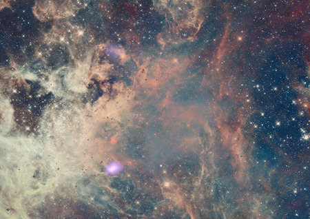 bright space: Small part of an infinite star field of space in the Universe.