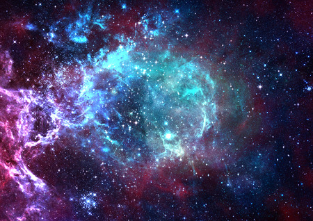 """Campo de estrella en el espacio un nebulosas y una congestión de gas. """"Los elementos de esta imagen proporcionada por la NASA"""". Foto de archivo"""