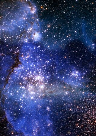 space: Star field in space a nebulae and a gas congestion. Elements of this image furnished by NASA.