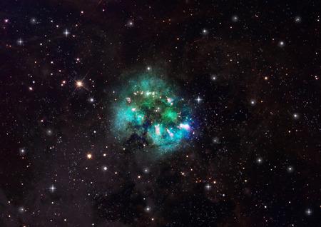 """우주 공간의 무한 스타 필드의 작은 부분. """"NASA가 제공 한이 이미지의 요소"""". 스톡 콘텐츠"""