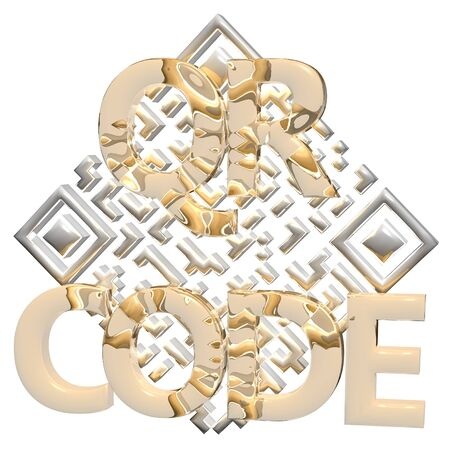 invitation barcode: Abstract example of a three-dimensional QR code as a background