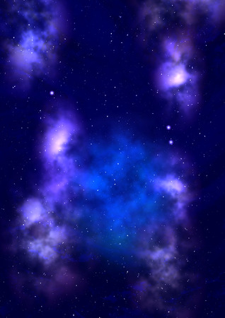 nebulae: Star field in space a nebulae and a gas congestion.   Stock Photo