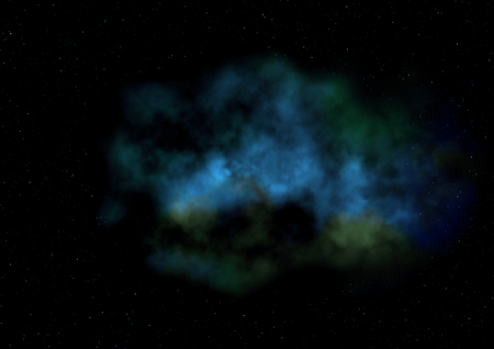 glow in the dark: Small part of an infinite star field of space in the Universe.