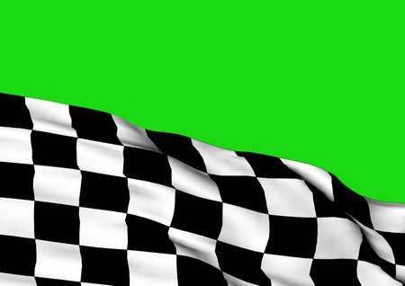 symbol sport: Hintergrund mit winkenden dreidimensionalen Zielflagge von Ende rennen. Lizenzfreie Bilder