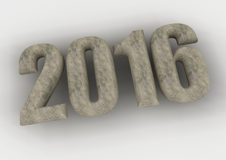 next day: New year 2016 text creative greeting card design Stock Photo